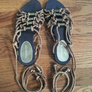 Topshop Rope Wrap Sandals
